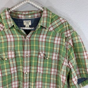 Lucky brand jeans classic fit snap button down